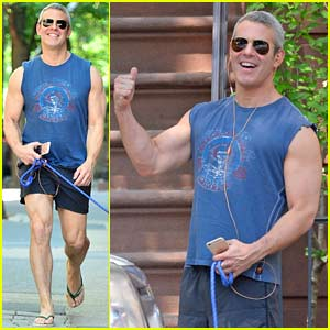 Andy Cohen Puts His Biceps on Display in New York City