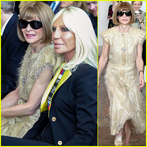 Anna Wintour & Donatella Versace Attend Met Gala's Press Preview
