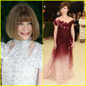 Anna Wintour Supports Scarlett Johansson's Choice to Wear Marchesa at Met Gala 2018