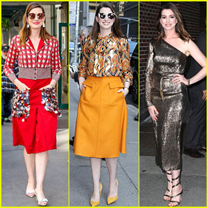 Anne Hathaway Wears Three Different Looks for 'Ocean's Eight' Press Day