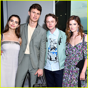 Ansel Elgort & Dane DeHaan Have a Double Date at Prada Show