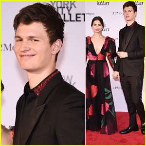 Ansel Elgort & Violetta Komyshan Couple Up for NYC Ballet Spring Gala