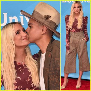 Ashlee Simpson & Evan Ross Attend NBCUniversal Summer Press Day 2018!