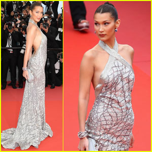 Bella Hadid Sparkles in Silver at 'BlacKkKlansman' Premiere in Cannes