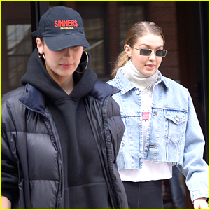 Bella Hadid Hangs Out with Big Sis Gigi in NYC!