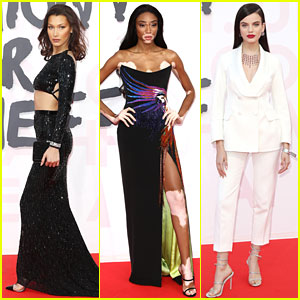 Bella Hadid, Winnie Harlow, & Sonia Ben Ammar Attend Fashion For Relief Charity Show