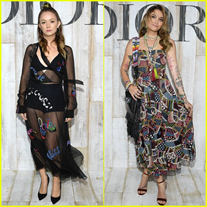 Billie Lourd & Paris Jackson Get Colorful at Christian Dior Photo Call
