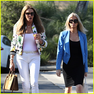 Caitlyn Jenner & Sophia Hutchins Grab a Quick Lunch Together in Malibu