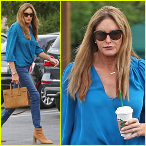 Caitlyn Jenner Rocks Shades of Blue for Morning Coffee Run