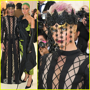 Cara Delevingne Shows Off Some Skin in Black Net Gown at Met Gala 2018