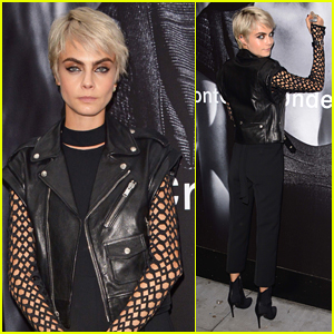 Cara Delevingne Unveils New Tag Heuer Campaign in NYC!