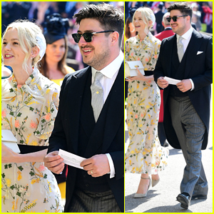 Carey Mulligan is Pretty in Florals Alongside Marcus Mumford at Royal Wedding