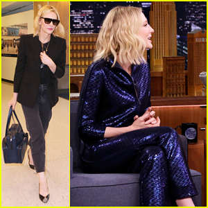 Cate Blanchett Plays Round Of Egg Russian Roulette & Eats Burgers on 'Tonight Show'!