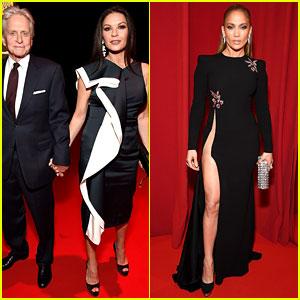 Catherine Zeta-Jones & Jennifer Lopez Look Fierce at Robin Hood Foundation Benefit