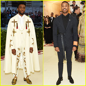 Chadwick Boseman & Michael B. Jordan Are Met Gala 2018 Kings