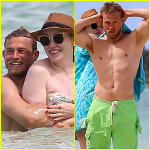 Charlie Hunnam Reunites with Morgana McNelis in Hawaii - See the PDA Beach Photos!