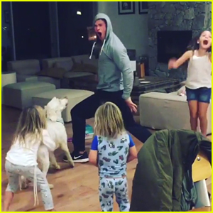 Chris Hemsworth & His Kids Dance to Miley Cyrus' 'Wrecking Ball' - Watch Now!