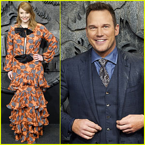 Chris Pratt & Bryce Dallas Howard Kick Off 'Fallen Kingdom' Press Tour in Madrid!