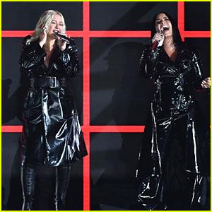 Christina Aguilera & Demi Lovato Perform 'Fall in Line' at BBMAs 2018 (Video)