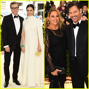 Colin Firth & Harry Connick Jr. Bring Their Wives to Met Gala 2018