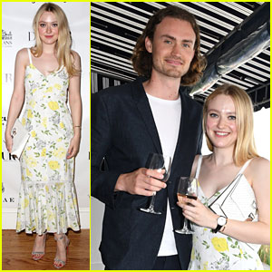 Dakota Fanning Toasts 'DuJour' Cover With Boyfriend Henry Frye