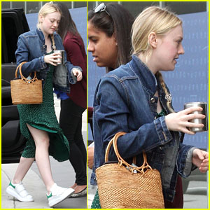Dakota Fanning Keeps It Casual & Trendy for LA Business Meeting