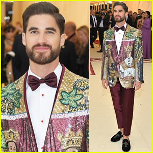 Darren Criss Rocks Sparkling Blazer for Met Gala 2018!