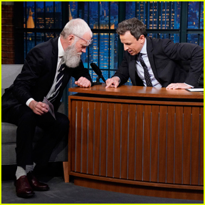 David Letterman Gifts Seth Meyers A Tick on 'Late Night'!