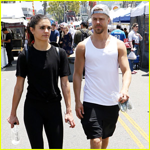 Derek Hough & Girlfriend Hayley Erbert Hit the Road For Trip Up The Coast
