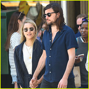 Dianna Agron & Husband Winston Marshall Match in Navy Clothing!