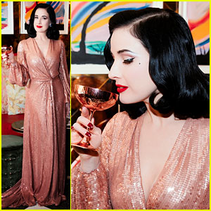 Dita Von Teese Hosts Cocktail Party to Celebrate Her Tour