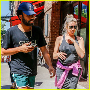 Donald Glover Steps Out in Short Shorts with Partner Michelle