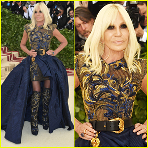 Donatella Versace Arrives for Met Gala 2018 Co-Hosting Duties!