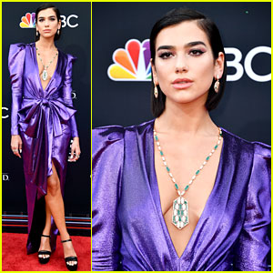 Dua Lipa Is Pretty in Purple at Billboard Music Awards 2018!