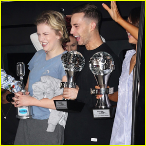 'DWTS' Adam Rippon & 'American Idol' Maddie Poppe Celebrate Their Wins Together on 'GMA'!