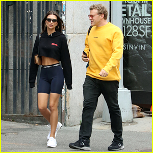 Emily Ratajkowski & Husband Sebastian Bear-McClard Go for Lunch in Soho