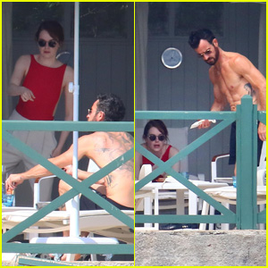 Justin Theroux & Emma Stone Spend Time Together in the South of France!