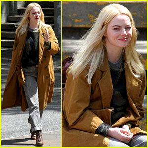 Emma Stone Gets Into Character While Filming 'Maniac' in NYC