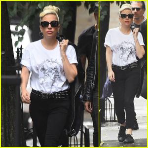 Lady Gaga Struts in Style Alongside Christian Carino in New York City