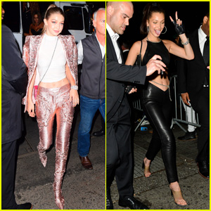 Gigi & Bella Hadid Party the Night Away at Met Gala 2018 After Parties!