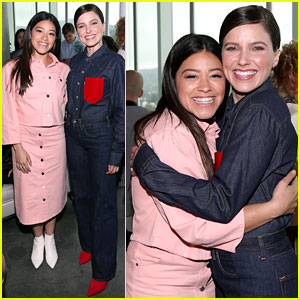 Gina Rodriguez & Sophia Bush Share a Hug at CÎROC Empowered Women's Brunch!