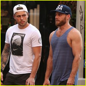 Gus Kenworthy & Boyfriend Matthew Wilkas Show Off Their Muscles in NYC!