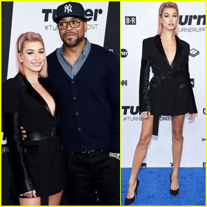 Hailey Baldwin & Method Man Rep 'Drop the Mic' at Turner Upfronts!