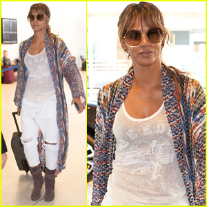 Halle Berry Jets Out of NYC After Filming 'John Wick 3'