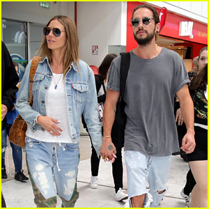 Heidi Klum & Tom Kaulitz Hold Hands While Heading Out of France Together!