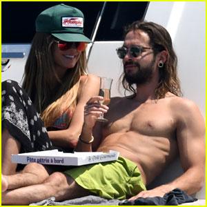 Heidi Klum & Tom Kaulitz Flaunt Their Bodies & PDA in Cannes
