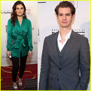 Andrew Garfield & Idina Menzel Step Out For Drama League Awards!