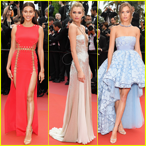Irina Shayk, Stella Maxwell & Josephine Skriver Hit Red Carpet at 'Sorry Angel' Cannes Festival Premiere!
