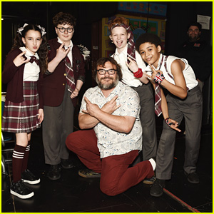 Jack Black Attends 'School of Rock' Performance in Hollywood!