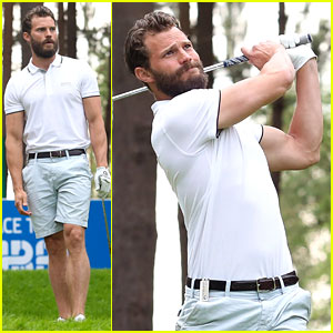 Jamie Dornan Looks So Hot While Golfing in BMW PGA Championship!